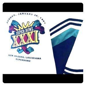 Team NFL Jackets & Coats - 1997 Super Bowl XXXI New Orleans Green Bay Coat L